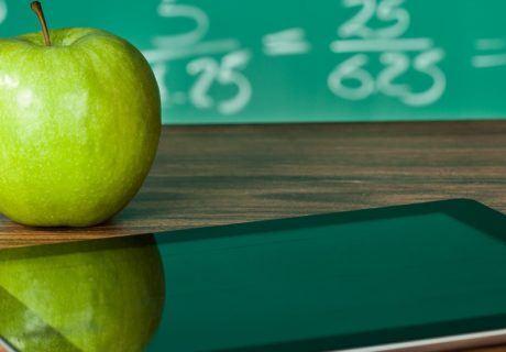green apple and ipad
