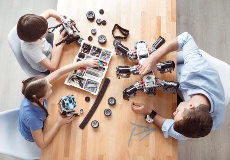 ev3 robot kids and dad - CoderZ STEM Blog