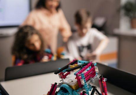 STEM Access Robotics CoderZ Students coding a lego EV3 robot