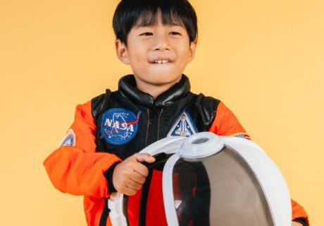 Young Boy in space suit NASA STEM Coding CoderZ