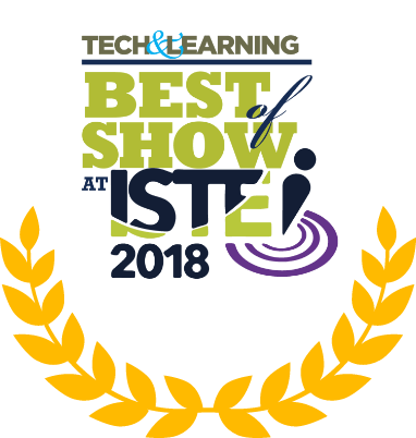 Tech and Learning Best of Show Award ISTE logo